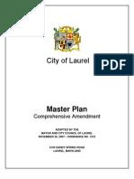 City of Laurel Master Plan Comprehensive Amendment