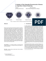3D Frequency-Domain Analysis of Non-Separable Reconstruction Schemes by using Direct Volume Rendering