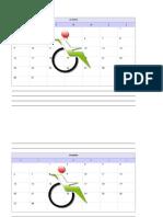 calendário mesa