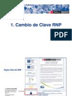 guía cambio clave y correo RNP