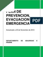 Plan de Prevención Evacuación y Emergencia