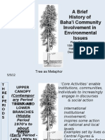 A Short History of the Involvement of the Baha'i Community on Environmental Issues - PPT