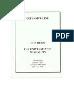 University of Mississippi D Line Drills