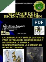 Abordaje de la Escena del Crimen