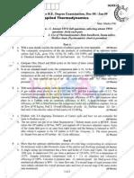 Applied Thermodynamics Dec08 Jan09