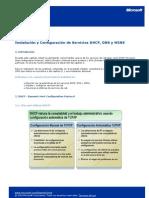 Instalación y Configuración de Servicios DHCP, DNS y WINS