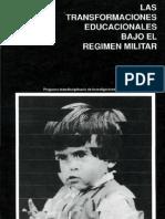 17 Las Transformaciones Educacionales Bajo El Regimen Militar Vol 1