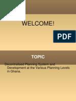 Decentralise Planning System