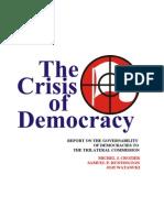 13139219 the Crisis of Democracy