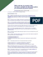 H.G. nr.843 din 14 octombrie 1999 privind încadrarea pe tipuri a unităţilor de alimentaţie publică neincluse în structurile de primire turistice