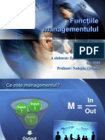Functiile Management