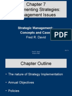 Implementing Strategies - Management Issues