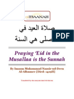 Praying Eid in the Musallah by Shaikh al-Albaani