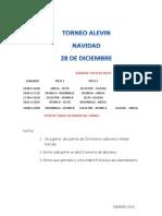 Horarios Torneo en Nigrán Alevín 2011