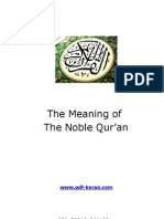 The Meaning of The Noble Quran