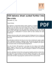 ECB Balance Sheet Sucked Further Into the Crisis