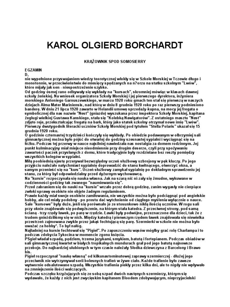 Borchardt Karol Olgierd Krążownik Spod Somosierry