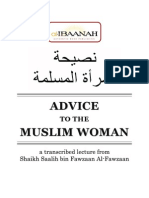 Advice to the Muslim Woman by Shaikh Dr. Salih bin Fawzan al-Fawzan