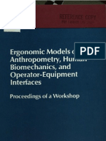 Ergonomic Models of Anthropometry Human Bio Mechanics- And Operator ... Oleh K. H. E. Kroemer-Committee on Human Factors-Thomas B. Sheridan-National Research Council (U.S.). Committee on Human Factors