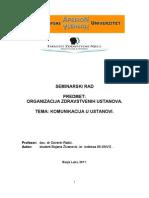 Organizacija zdravstvenih ustanova