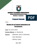 Proyecto Tutorado_Ascensor