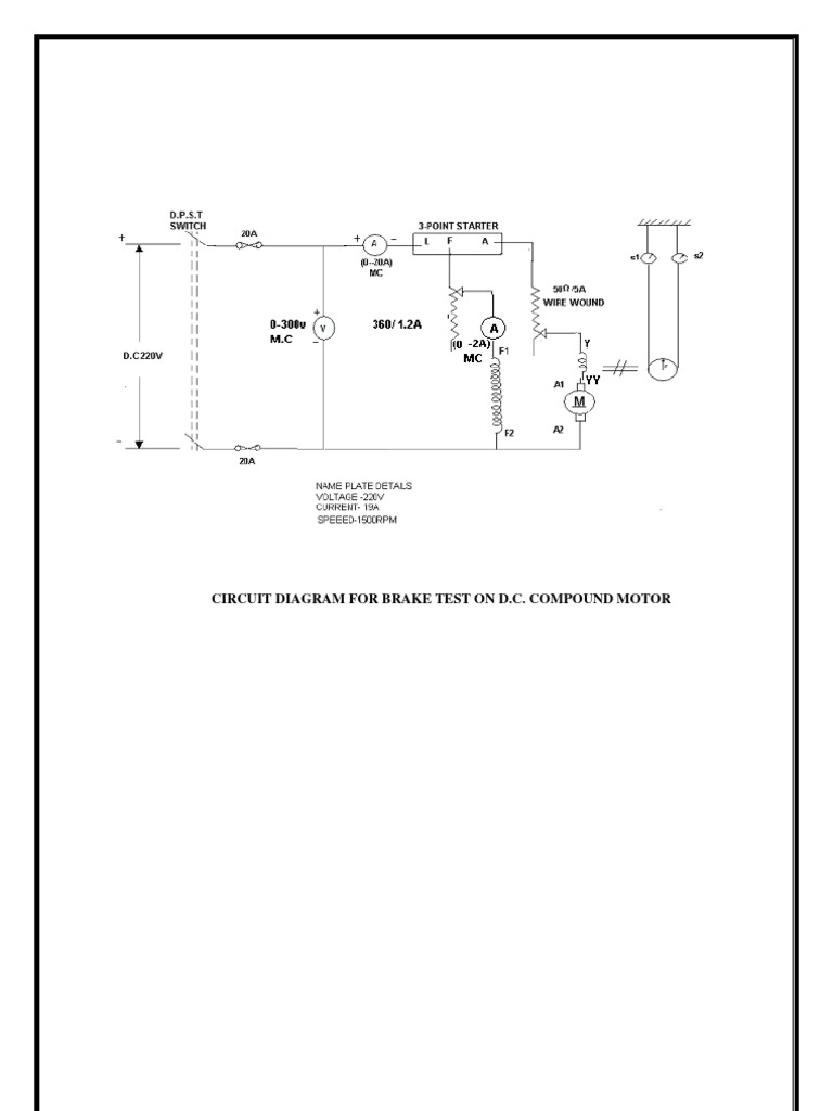 compound motor diagram compound image wiring diagram brake test on dc compound motor on compound motor diagram