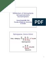 Lipid Metabolism-5 Sphingolipids Handouts