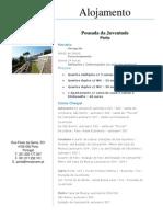 Doc. Alojamento.pousada Da Juventude Porto