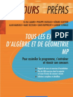 _Tous les exercices d_Algèbre et de Géométrie MP