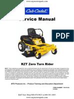 Cub Cadet RZT Series Zero Turn Service Repair Manual[1]