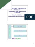 Lipid Metabolism- 1 Fatty Acid Oxidation