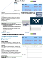 OEE Sheet Metal Line & Assembly Line Re Balancing Projects - CI