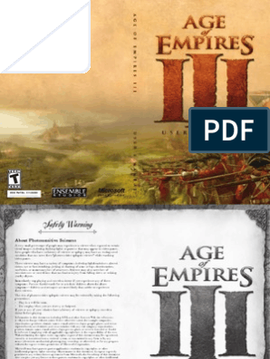 Age Of Empires III Standard Manual pdf | Epilepsy