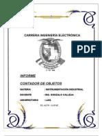 CONTADOR de OBJETOS Practica de Sensores