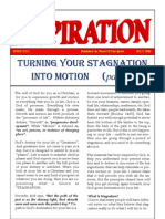 TURNING YOUR STAGNATION INTO MOTION - NEWSLETTER