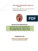 Proyecto de investigación fedu 2011-2012