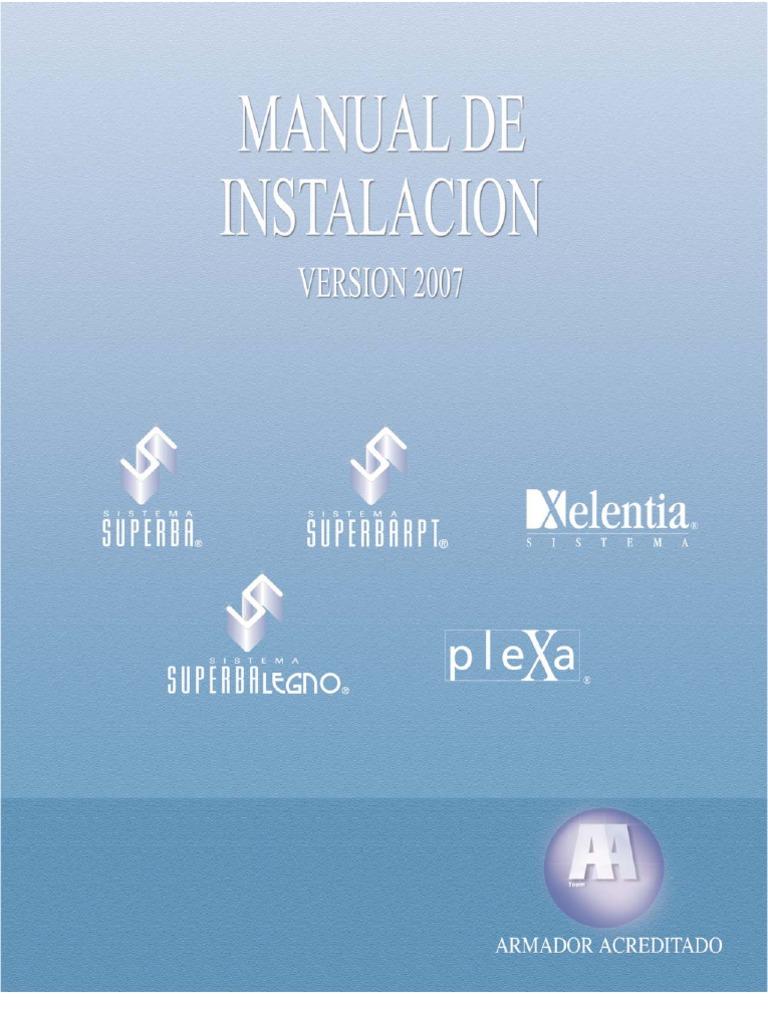 Manual instalaci n ventanas y puertas de aluminio for Manual de viveros forestales pdf