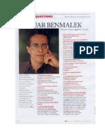 AnouarBenmalek Les Questions AfriqueMagazine Decembre2011