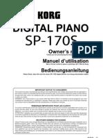 Korg Sp-170s Manual
