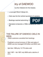 The Failure of Daewoo Cielo in India