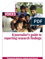 A Journalists Guide to Reporting Research Findings