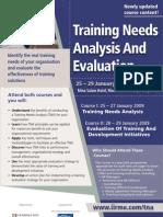 Training Needs Analysis & Evaluation