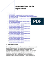Fundamentos teóricos de la gestión de personal 1