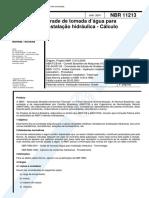 NBR 11213 NB 1098 - Grade de Tomada d'Agua Para Instalacao h