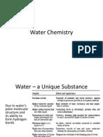 Kuliah 6 - Water Chemistry