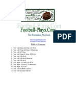 Tier Formation Offense by Football Plays