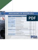 INDICADORES DE GESTIÓN 2011