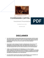 Fuhrmann Capital 2012 Stock Market Outlook