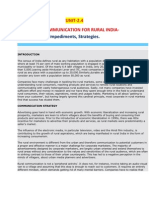 Mass Communication for rural India- Impediments & Strategies