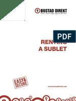 A4_Renting a Sublet via Bostad Direkt 2011